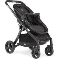 Carrinho De Bebê Urban Plus Black Chicco - Unissex-Preto