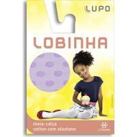 Meia Calça Lupo Infantil De Cotton Lobinha Lilás