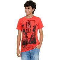 Camiseta Juvenil Estampa Califórnia Marisa