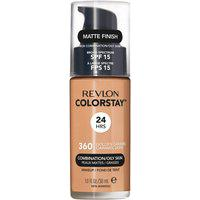 Base Líquida Revlon Colorstay 24 Horas Pele Mista À Oleosa Fps 15 - Golden Caramel Único