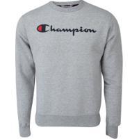 Blusão Champion Powerblend Crew - Masculino - Mescla