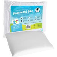 Travesseiro Fibrasca Anti Sufocante Favinhos Baby Branco