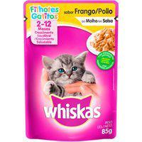 Ração Para Gatos Whiskas Filhotes 2-12 Meses Sachê Sabor Frango Ao Molho 85G