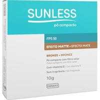 Pó Compacto Sunless Com Fps 50 Sunless Bronze - Unissex-Incolor