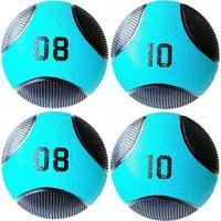 Kit 4 Medicine Ball Liveup Pro 8 E 10 Kg Bola De Peso Treino Funcional - Unissex