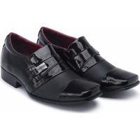 Sapato Social Schiareli Infantil Luxo Verniz - Masculino-Preto