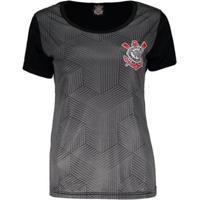 Camisa Corinthians Cubos Sccp Feminina - Feminino