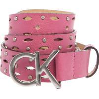 Cinto Calvin Klein Kids Encaixe Rosa