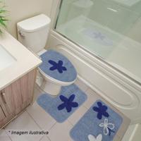 Jogo Para Banheiro Brunei- Azul & Azul Escuro- 3Pã§S