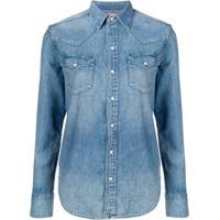 Polo Ralph Lauren Camisa Jeans Mangas Longas - Azul