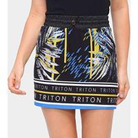 Saia Triton Curta Estampada Feminina - Feminino-Estampado