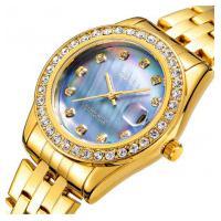 Relógio Feminino Oubaoer 6091La - Dourado E Azul