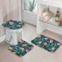 Jogo Tapetes Para Banheiro Tropical Único