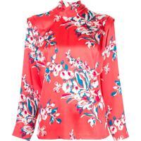 Roksanda Blusa Com Estampa Floral - Vermelho