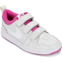 Tênis Infantil Nike Pico Velcro - Unissex-Prata+Branco