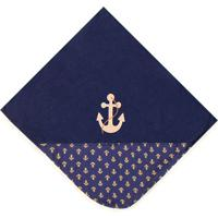 Manta Marinheiro Luxo - Azul Marinho - Marinheiro Padroeira Baby..