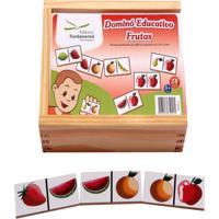 Dominó Educativo Frutas Jogo Com 28 Peças - Fundamental