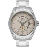 Relógio Orient Masculino Ne5Ss001 T1Sx Pulseira E Caixa Aço Prateado Mostrador Bege