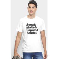 Camiseta Reserva Lúpulo Masculina - Masculino-Branco
