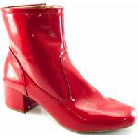 0c3231fc0 Bota Sapato Show Verniz Numeração Especial Feminina - Feminino-Vermelho