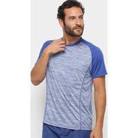Camiseta Gonew Melange Masculina - Masculino-Mescla+Marinho
