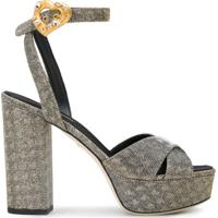 Dolce & Gabbana Sandália Meia Pata - Metálico