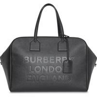 5a1acc9ee Farfetch; Burberry Bolsa De Couro Com Logo - Preto