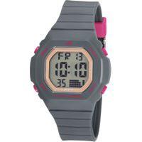 Kit De Relógio Digital Mondaine Feminino + Pulseira - 82959L0Mgnp2K Cinza