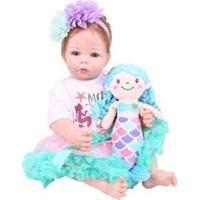 Boneca Reborn Laura Baby Iara Com Acessórios - Feminino-Colorido