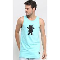 Camiseta Regata Grizzly Og Bear Masculina - Masculino-Azul Claro