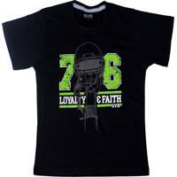 Camiseta Império Fitness Infantil Football Preta
