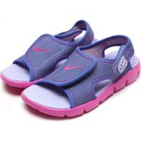 Sandália Nike Sunray Adjustable 4 (Gs/Ps) Girls' Sandal Roxa/Rosa