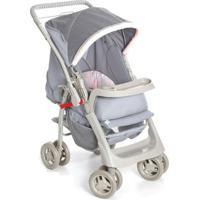 Carrinho De Bebê Para Passeio Galzerano Pegasus - Feminino-Cinza