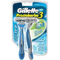 Aparelho De Barbear Gillette Prestobarba 3 Ice - 2 Unidades - Unissex-Incolor