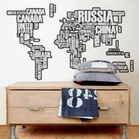 Adesivo De Parede Mapa Nomes