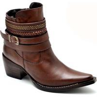 Bota Top Franca Shoes Country - Feminino-Café