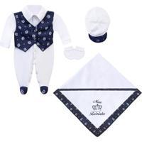 Saída Maternidade Padroeira Baby Navy Blue Azul Marinho