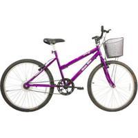 Bicicleta Mega Bike Rosy Free Aro 26 Freios V-Break Quadro Aço - Unissex