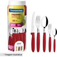 Faqueiro Ipanema- Inox & Vermelho- 30Pã§S- Tramontramontina