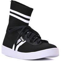 Sneaker Knit Stripes Preto