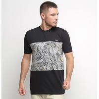 Camiseta Nicoboco Especial Slim Fit Blaine Masculina - Masculino-Preto