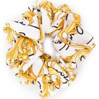 Versace Scrunchie Com Estampa Barroca - Branco