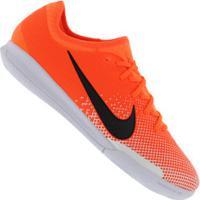 9caf3c8ba0c39 Chuteira Futsal Nike Mercurial Vapor 12 Pro Ic - Adulto - Laranja/Branco