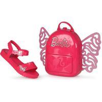 Sandália Rasteira Infantil Grendene Barbie Butterf
