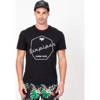 Camiseta Font Cadillac Masculina - Masculino-Preto
