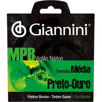 Encordoamento Para Violão Giannini Genwbg Nylon Mpb Ouro