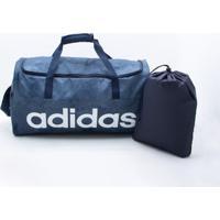 a468ecfcf Bolsa Adidas Linear Performance Azul Único