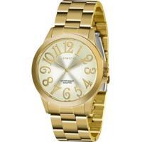 Relógio Lince Strass Lrgj126Lc2Kx Feminino - Feminino-Dourado