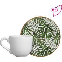 Conjunto De Xícaras De Café Costela De Adão- Branco & Vescalla Cerâmica