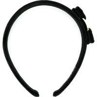 Salvatore Ferragamo Headband Vara Bow - Preto